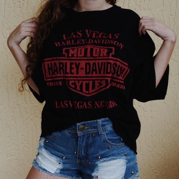 15682cc602b513 Harley-Davidson Tops - Vintage harley davidson crop shirt (reversible)